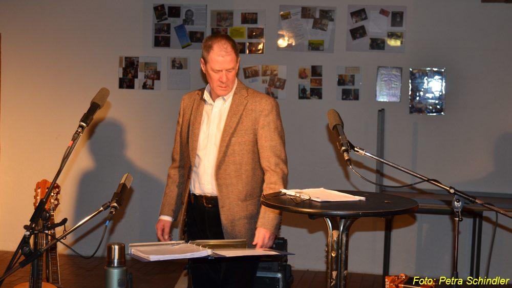 Wolfgang Rieck am 25. Januar 2014 in der Bauernscheune