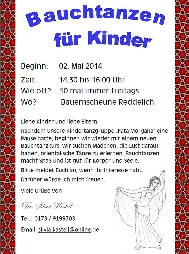 Plakat Kinderbauchtanz 2014